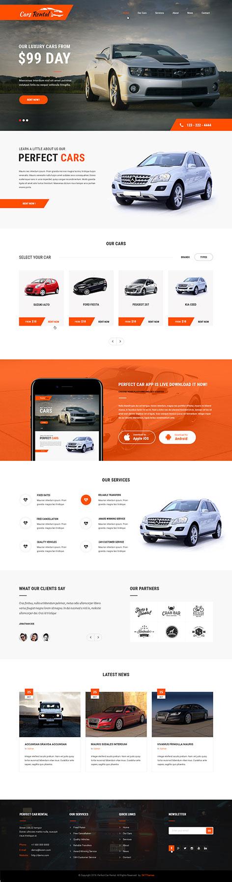 car rental wordpress theme1 - Car Rental