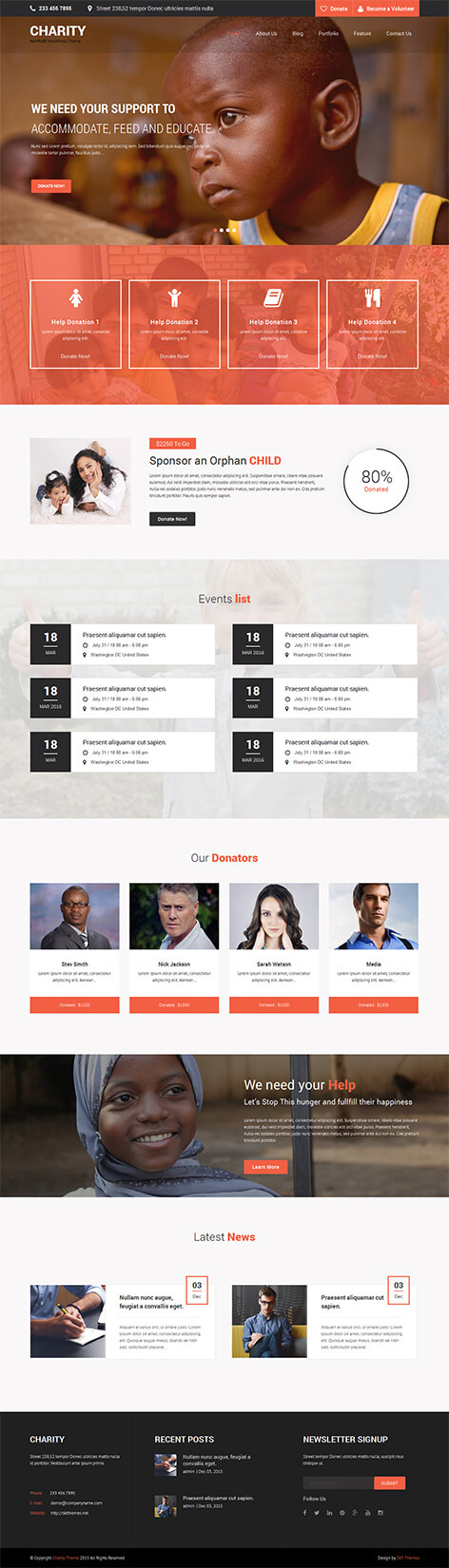 charity wordpress theme - Charity