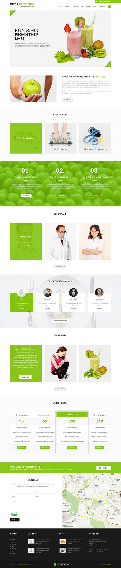 diet nutrition wordpress theme1 - Diet and Nutrition