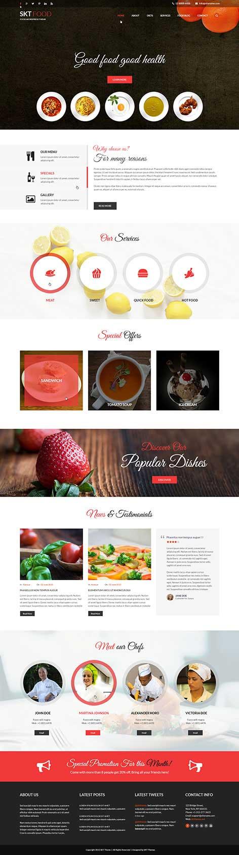 food recipes wordpress theme1 - Food