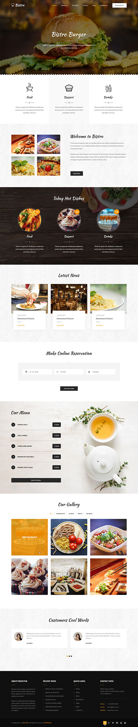 food wordPress theme1 - Bistro