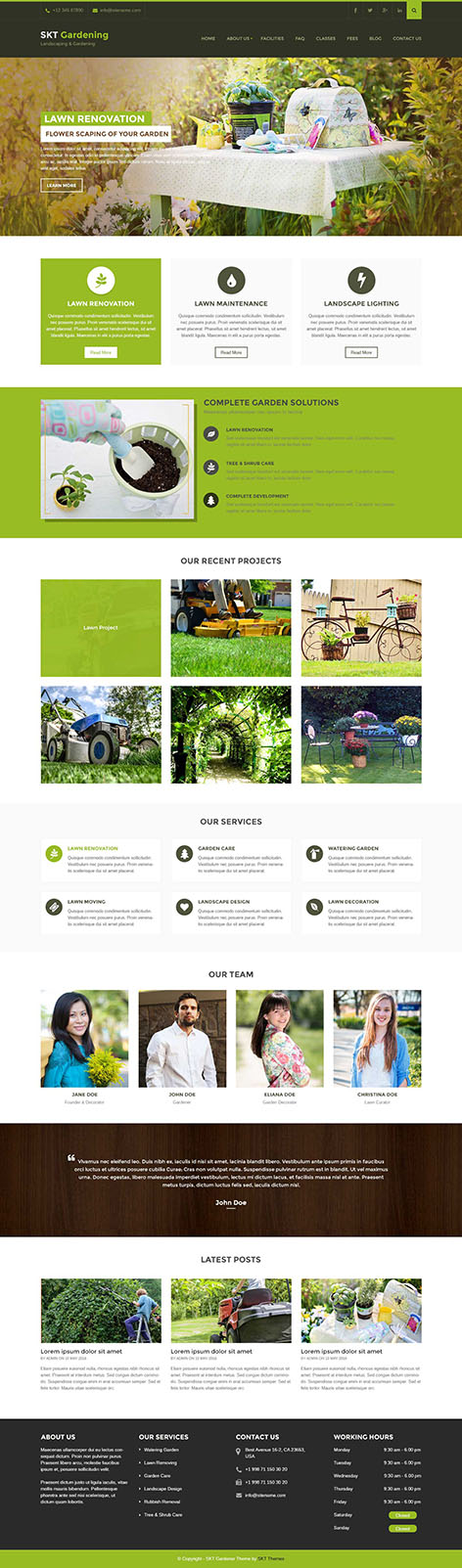 gardening landscaping wordpress theme 1 - Gardening