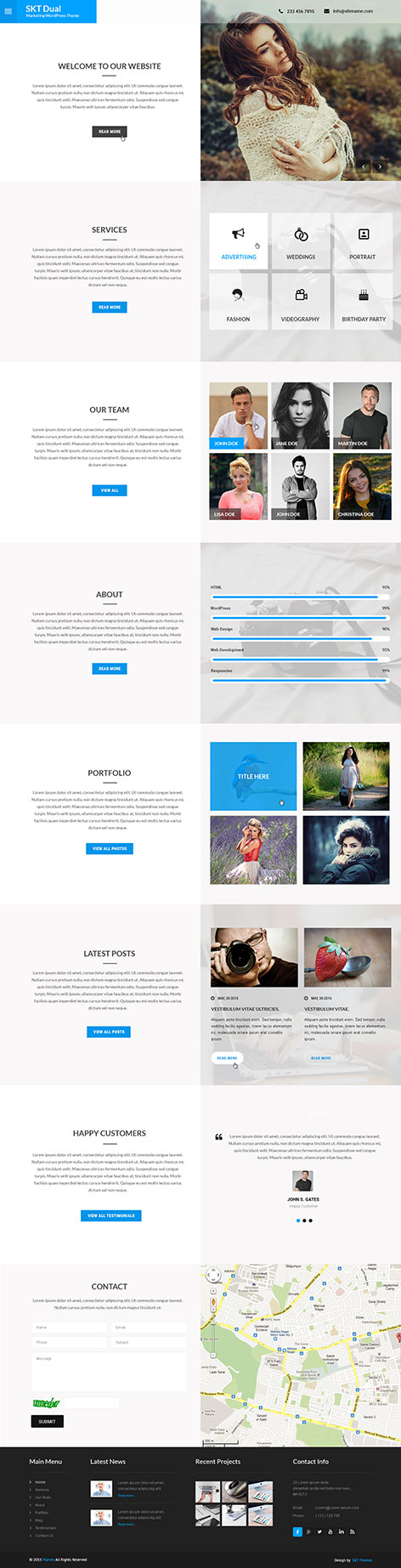marketing wordpress theme1 - Dual