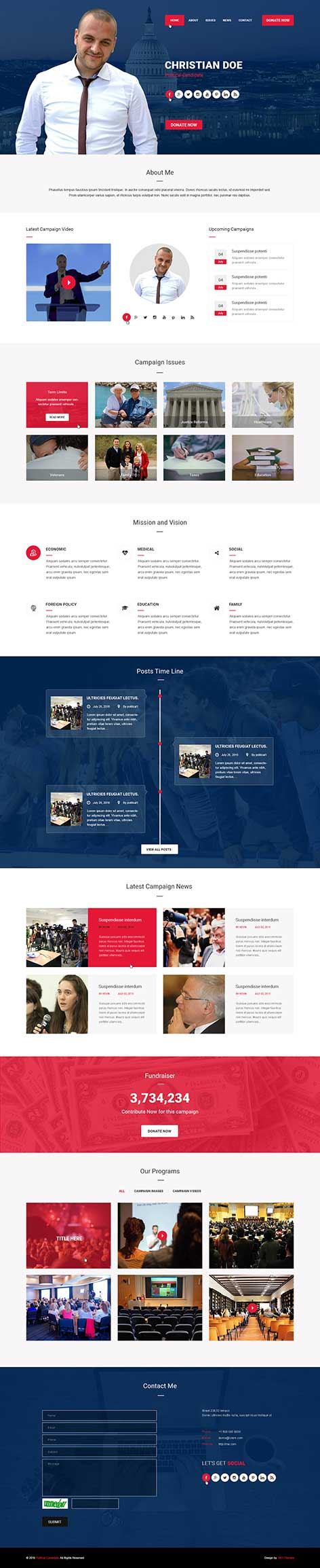 political wordpress theme1 - Political Candidate