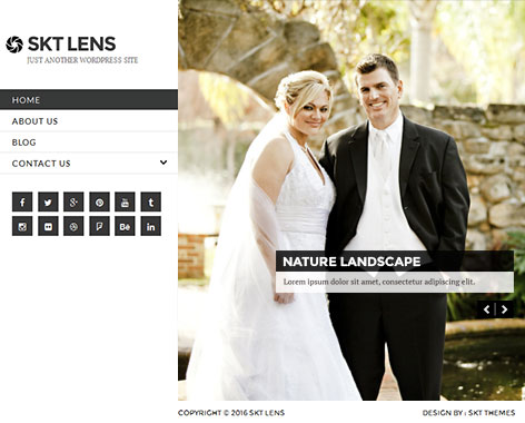 portfolio wordpress theme1 - Lens