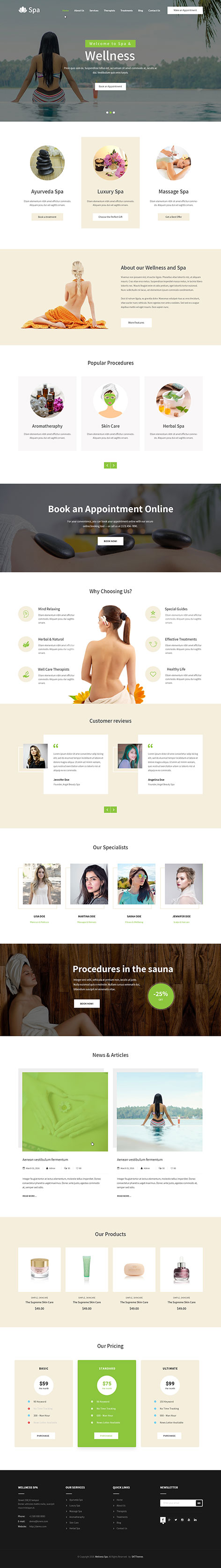 spa wordpress theme1 - Spa