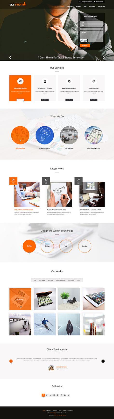 startup wordpress theme - Start-up