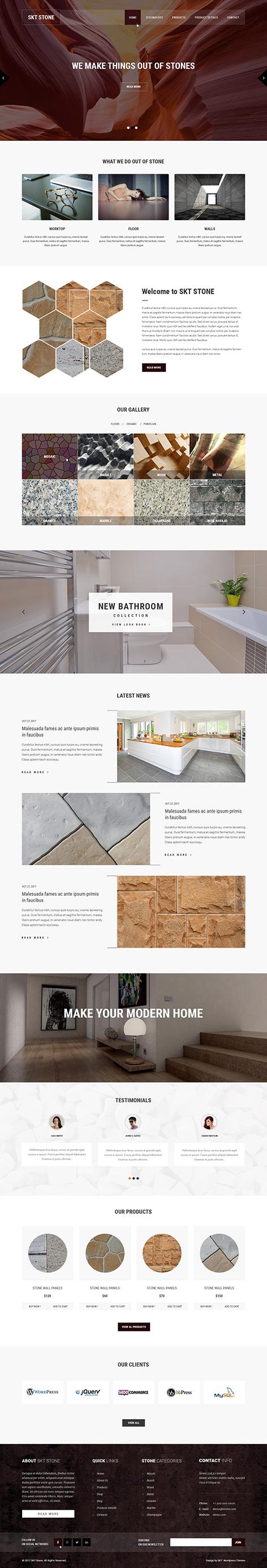 stone wordpress theme1 - Stone