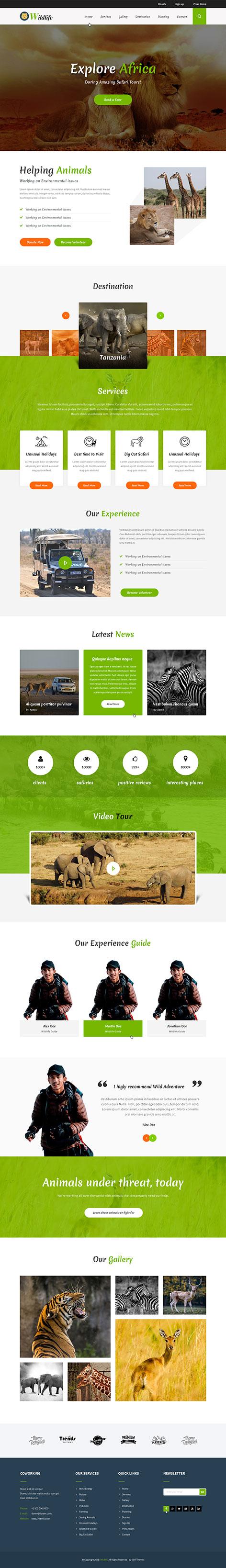 zoo wordpress theme2 - WildLife