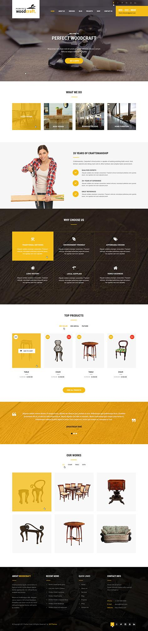 carpenter wordpress theme1 - WoodCraft