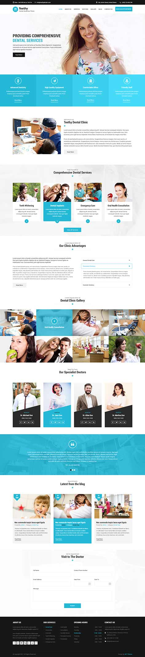 medical wordpress theme - Teethy