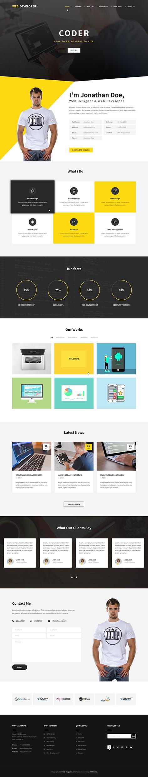 programmer wordpress theme - Web Programmer