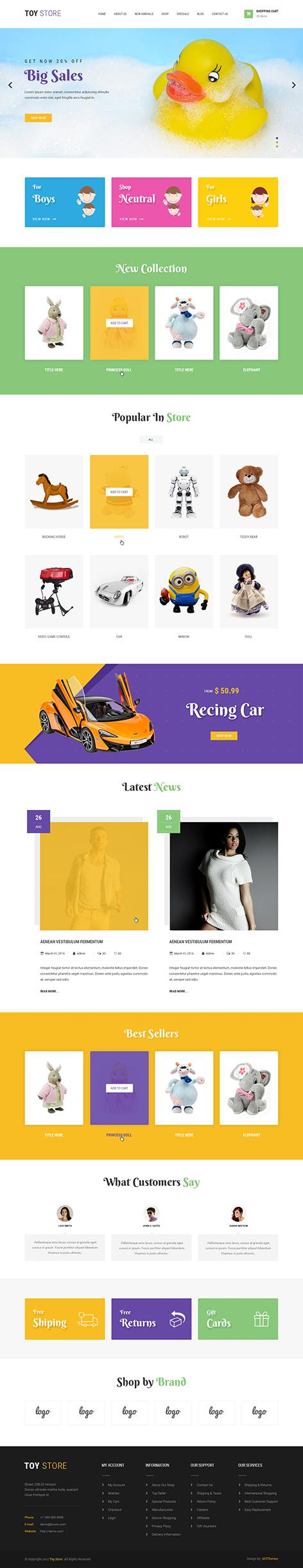 toy store wordpress theme1 - Toy Store