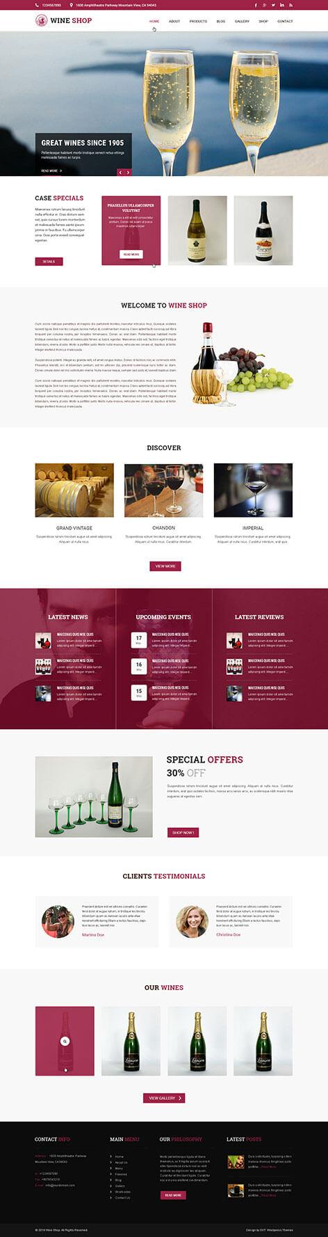 wine brewery theme - Wine