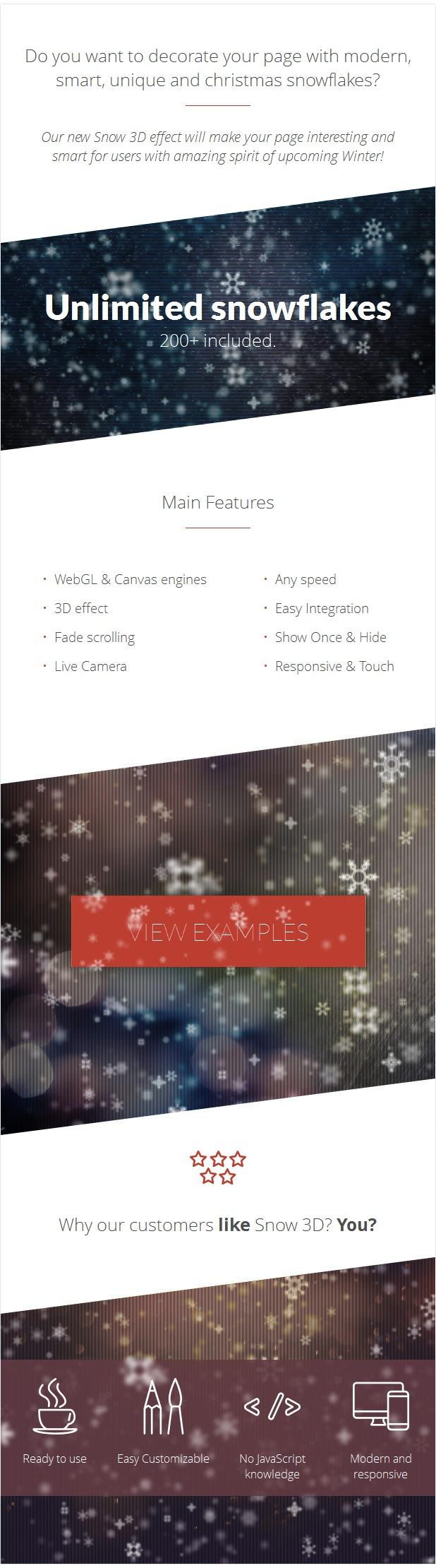 1 - Snow 3D - Christmas Plugin for WordPress