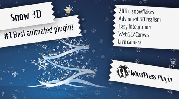 5 - Snow 3D - Christmas Plugin for WordPress