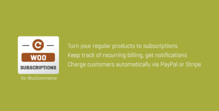 SUBSCRIPTIO 430x219 - Subscriptio - WooCommerce Subscriptions