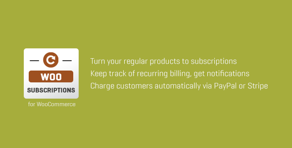 SUBSCRIPTIO - Subscriptio - WooCommerce Subscriptions