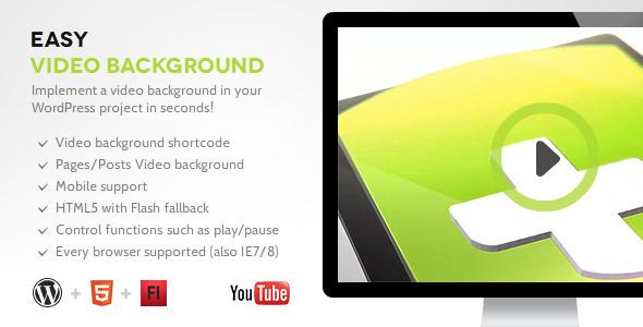 easy video background wp - Easy Video Background WP