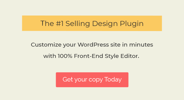 front end design tool for wordpress - YellowPencil - Visual CSS Style Editor